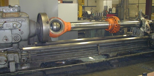 Lodge & Shipley Lathe Turns Parts Up To 32 Inches Diameter and 32 Feet Long
